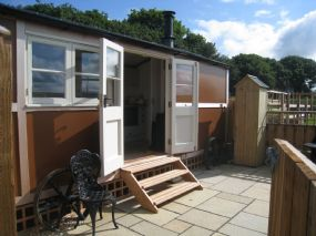 Hut and Hound Pet Friendly Holidays St Austell Shepherds Huts dogs allowed Cornwall